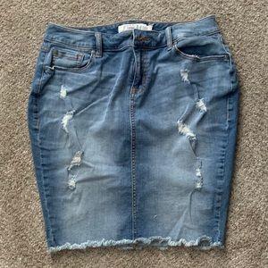 EUC Torrid Denim Skirt Size 12
